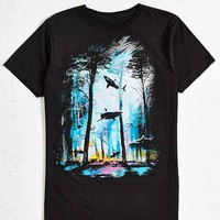 Design By Humans Shark Forest Tee