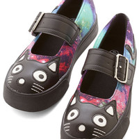ModCloth Statement Kitty Leader Flat