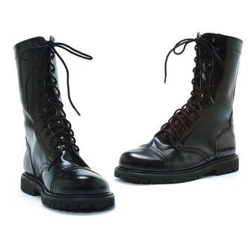 Men's 1 Inch Combat Boot (Medium,Black)