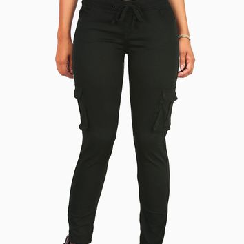 Structured Cargo Twill Joggers