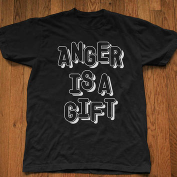 Rage Against The Machine-Anger Is A Gift-Lyric Graffiti Lettering Unisex T-Shirt