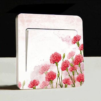 1pc Flowers Switch Cover Wall Stickers Light Decor Decals Baby Room Art Mural