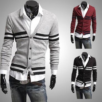 Fashion Men Slim Fit Knit Cardigan