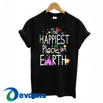 The Happiest Place On Earth T Shirt Women And Men Size S To 3XL