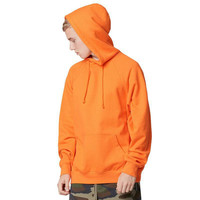 2016 fashion color orange hooides men's thick clothes winter sweatshirts men Hip Hop Streetwear solid fleece hoody man Clothing