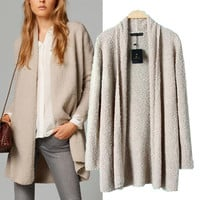 Long Sleeve Cardigan Knitted Sweater