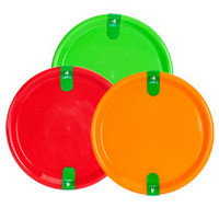 Bulk Bright Round Plastic Plates, 4-ct. Packs at DollarTree.com