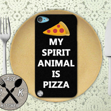 My Spirit Animal Is Pizza Funny Quote Tumblr Custom Rubber Case iPod 5th Generation and Plastic Case For The iPod 4th Generation Gen