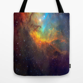 Tulip Galaxy stars Tote Bag by Laureenr