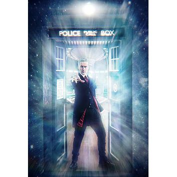 Doctor Who Poster Metal Sign Wall Art 8in x 12in Peter Capaldi 12th Doctor