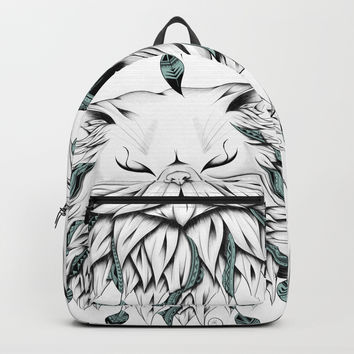 Poetic Persian Cat Backpack by loujah