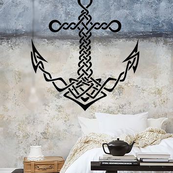 Vinyl Wall Decal Celtic Anchor Ship Sea Marine Style Sailor Stickers Unique Gift (1707ig)