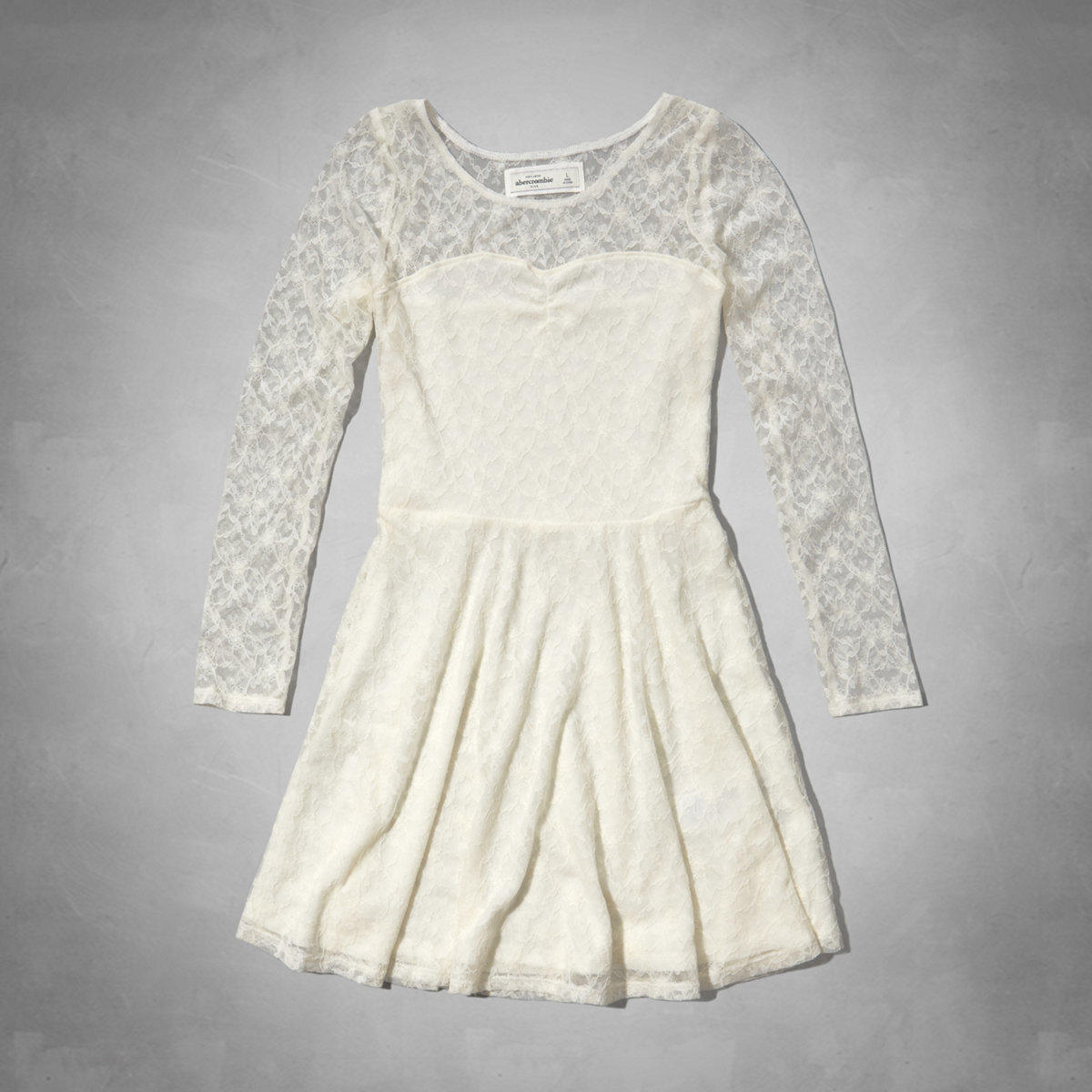 Christmas dresses 3 months - Long Sleeve Lace Skater Dress From Abercrombie Kids