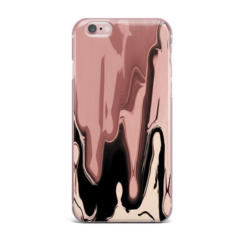 "Nina May ""Nude Drip"" Peach Black iPhone Case"
