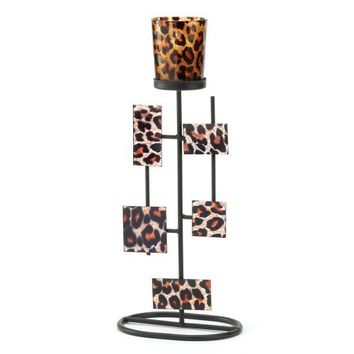 Gifts & Decor Geometric Animal Leopard Print Votive Candle Holder