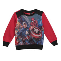 Marvel The Avengers Sublimation Toddler Crew Pullover