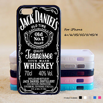 JACK DANIEL'S WHISKEY OCM Case For iPhone 6 Plus For iPhone 6 For iPhone 5/5S For iPhone 4/4S For iPhone 5C iPhone X 8 8 Plus
