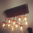 The Monroe 10 light mason jar chandelier