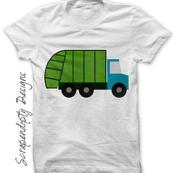 Garbage Truck Iron on Transfer - Garbage Truck Shirt / Boys Truck Birthday Party / Garbage Man Clothing / Kids Tee / Toddler Tshirt IT412-P