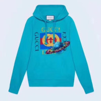 GUCCI Fashion Casual Straps Planet print Hooded Hoodies Sweatshirt Top H-AGG-CZDL