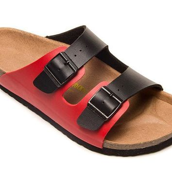 Birkenstock Arizona Patent Leather Sandals For Women & Men Flip Flops Shoes - Beauty Ticks