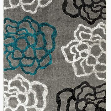 2101 Turquoise Contemporary Area Rugs