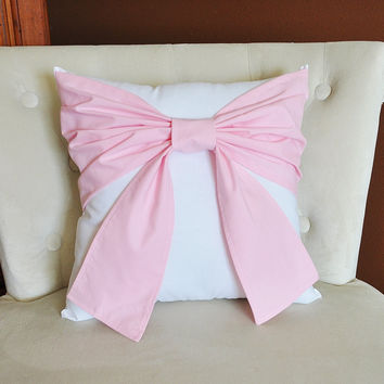 Light Pink Bow Pillow