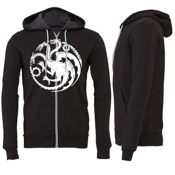 dragon Zipper Hoodie game of thrones