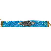 Turquoise Sequin Crystal Druzy Cuff