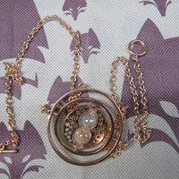 Harry potter necklaces time Turner plated necklace 18 k yellow Space-time jewelry necklace