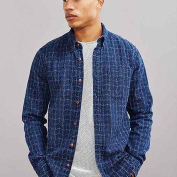 CPO Indigo Plaid Dobby Button-Down Shirt