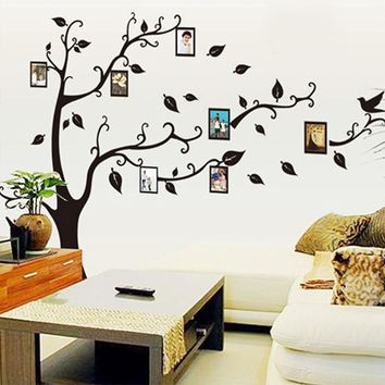 Black 3D DIY Photo Tree PVC Wall Decal Adhesive Family Wall Stickers Mural Art Home Decor
