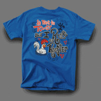 Sweet Thing Funny I Rule the Rooster Blue Girly Bright T Shirt