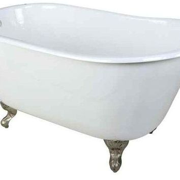 "53"" Slipper Clawfoot Bathtub With Feet"