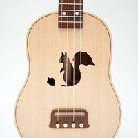 Ukulele (customizable sound hole of choice) Example: Squirrel