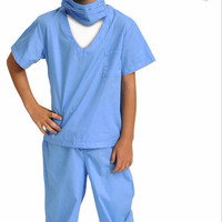 Aeromax Jr. Doctor Blue Scrubs with Kids Coloring Book