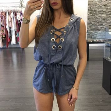 Womens Cool Casual Edgy Romper
