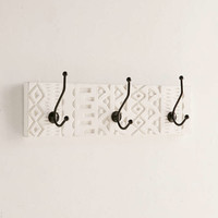 White Geo Wall Hook - Urban Outfitters