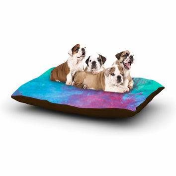 "NL Designs ""Bold Choice"" Teal Painting Dog Bed"
