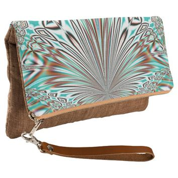 abstract crystal design clutch