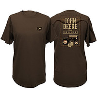 John Deere Men's Brown Steer T-Shirt-xl