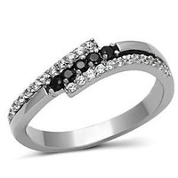 Black Diamond CZ Stainless Steel Ring