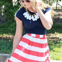Melanie Skirt - Red and White