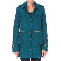 Betsey Johnson Womens 2-in-1 Peplum Anorak Jacket