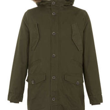 KHAKI HEAVYWEIGHT PARKA coat - Men's Coats & Jackets  - Clothing