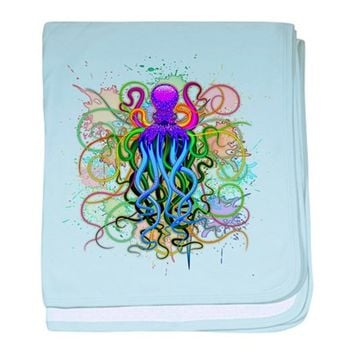 OCTOPUS PSYCHEDELIC LUMINESCENCE BABY BLANKET