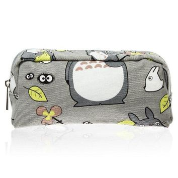 ONETOW My Neighbor Totoro Pen Bag Pencil Case Cosmetic Makeup Bag Pouch (Green)