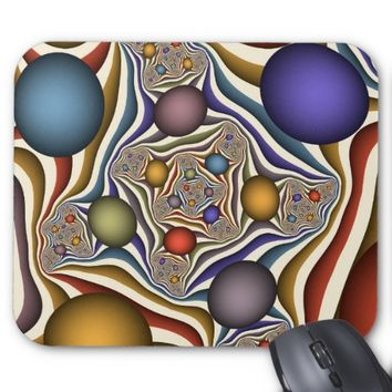 Flying Up, Colorful, Modern, Abstract Fractal Art Mouse Pad