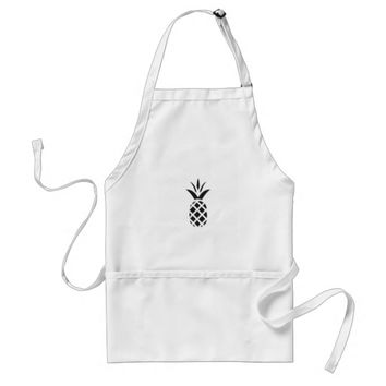 Black Pine Apple Adult Apron