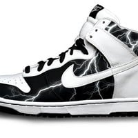 Lightning Nike Dunks by Customs4you on Etsy